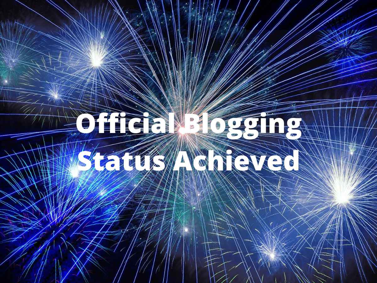 Read more about the article Official Blogging Status Achieved