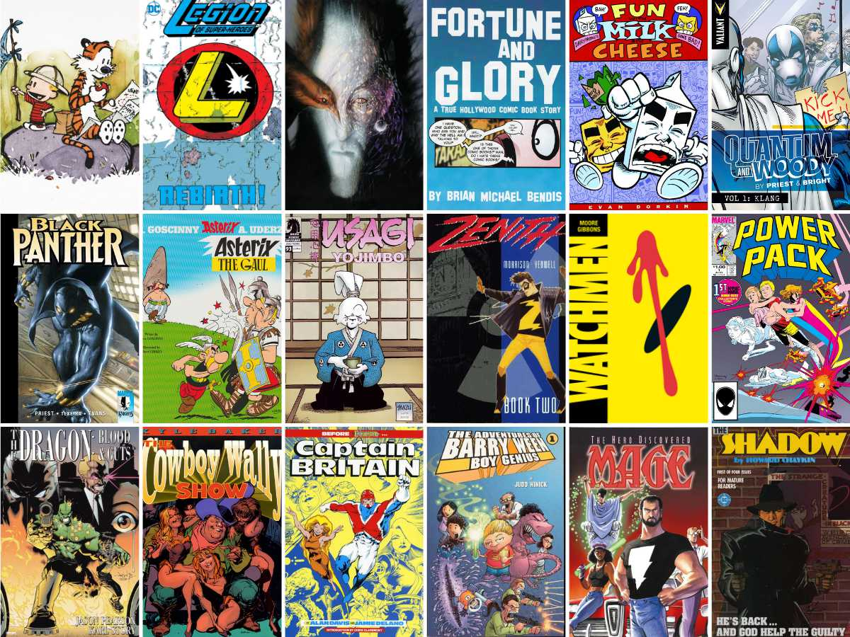 You are currently viewing Comics: My ridiculously late 100 Things I Love About Comics