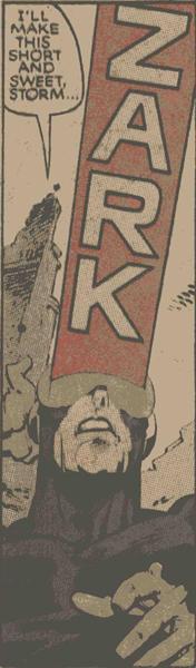 Uncanny X-Men #201 panel of Cyclops