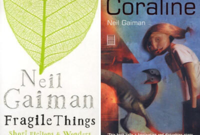 Fragile Things and Coraline book covers