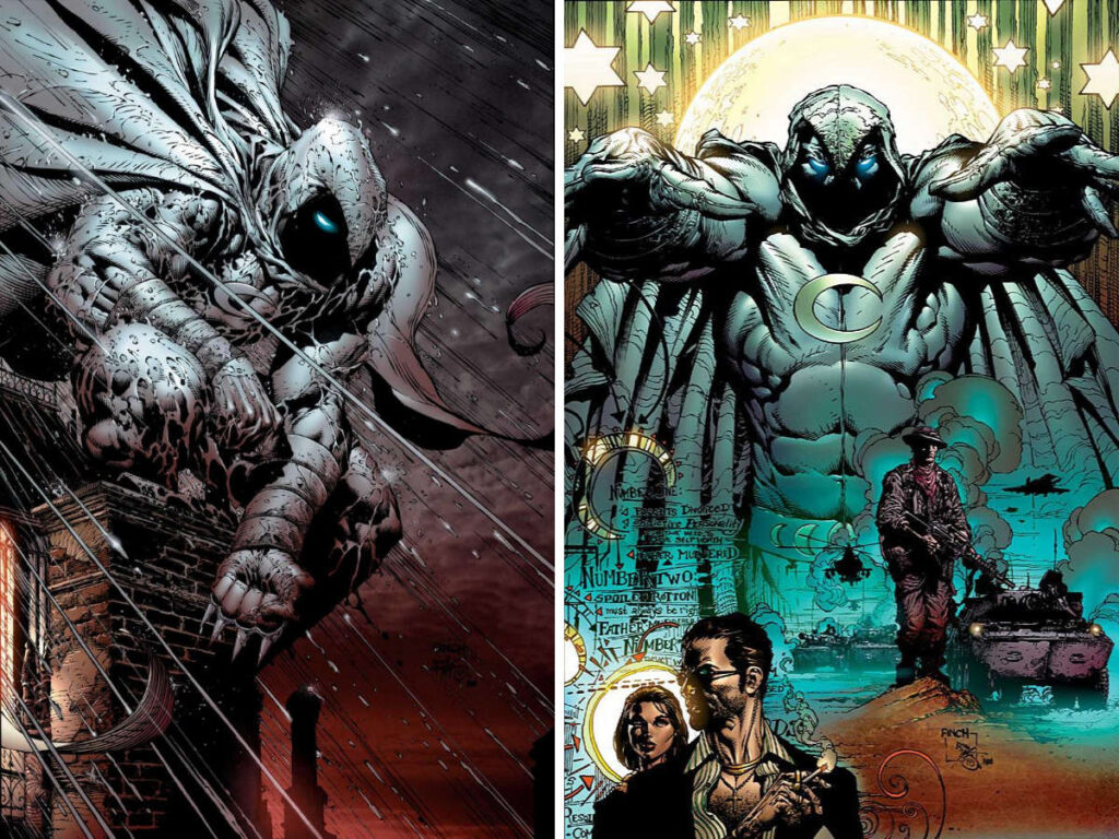 Moon Knight #2 and #3 by David Finch