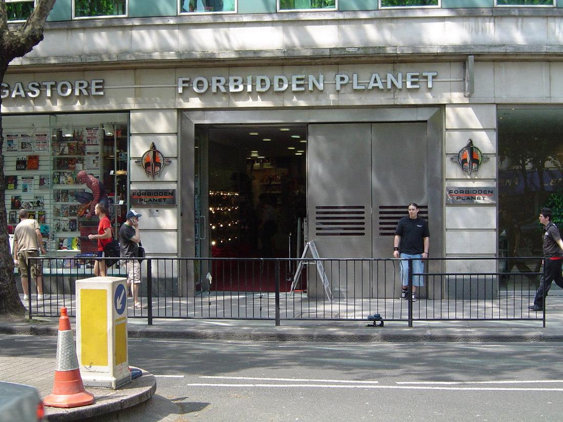 Forbidden Planet comic book shop central London