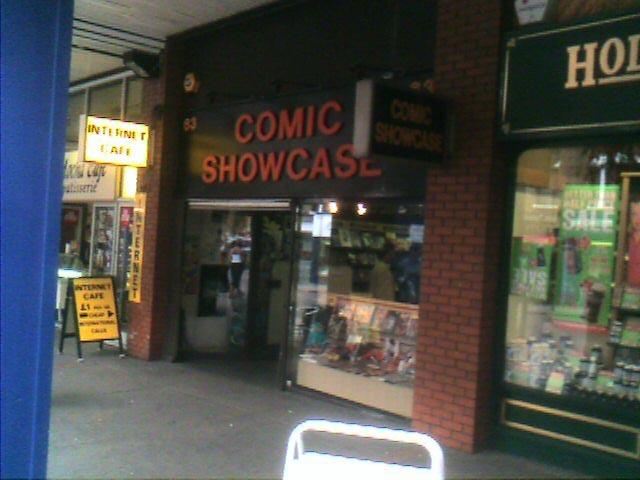 Comic Showcase comic book shop