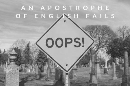 An Apostrophe Of English Fails?