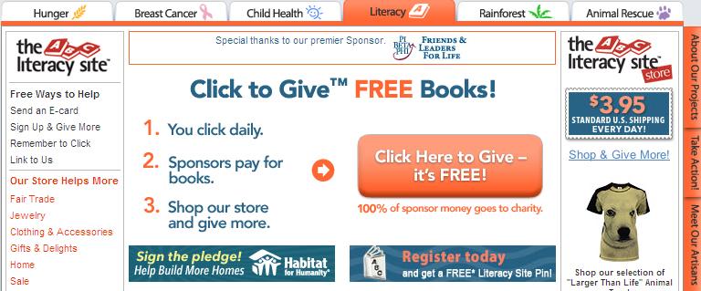 Literacy Site Fail