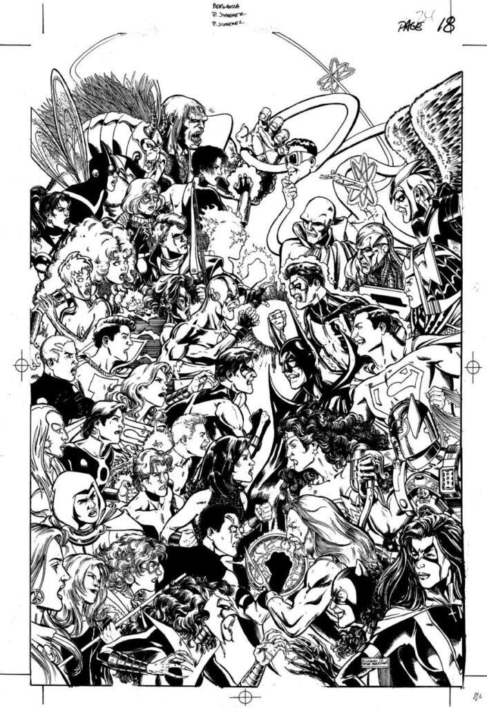 JLA/Titans #2 interior art by Phil Jimenez