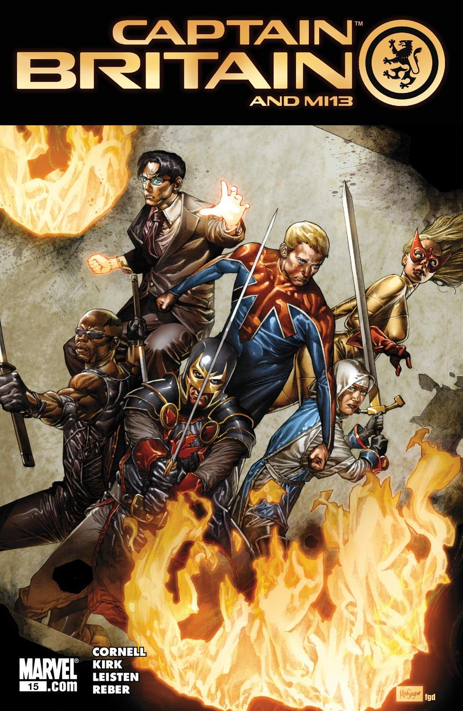Captain Britain and MI:13 #15 cover