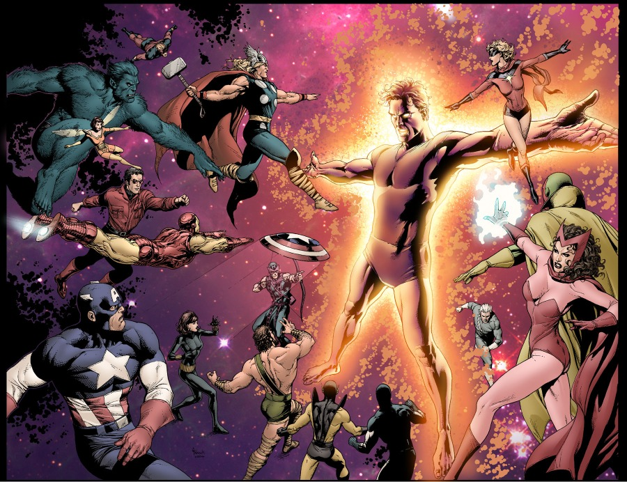 Interior page of Avengers