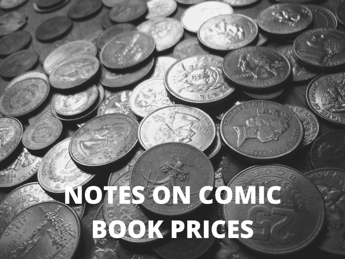 Notes on comic book prices