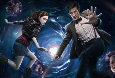 Doctor Who promotional image with Matt Smith and Karen Gillan