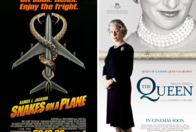 Snakes on a Plane and The Queen posters