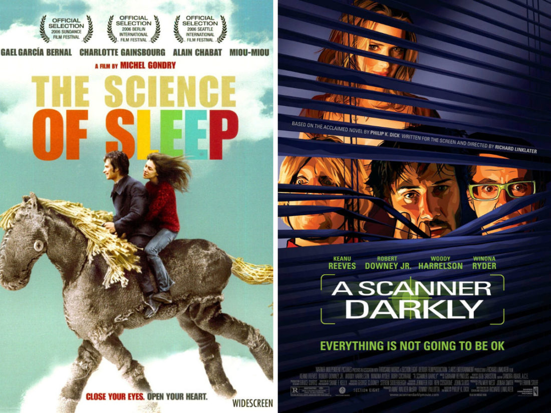 The Science of Sleep and A Scanner Darkly film posters