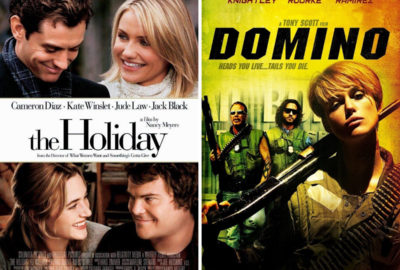 The Holiday and Domino film posters