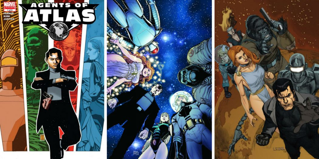 Covers for Agents of Atlas