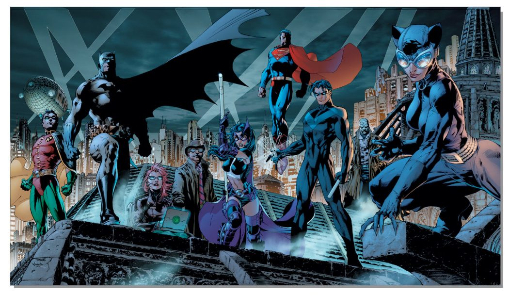 Batman heroes by Jim Lee