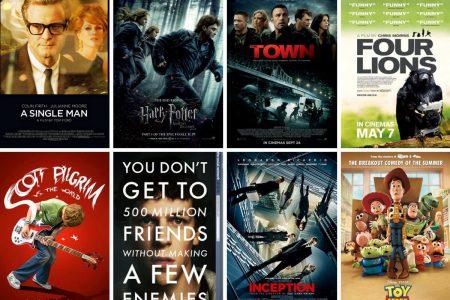 My Ten Favourite Films Seen In The Cinema 2010