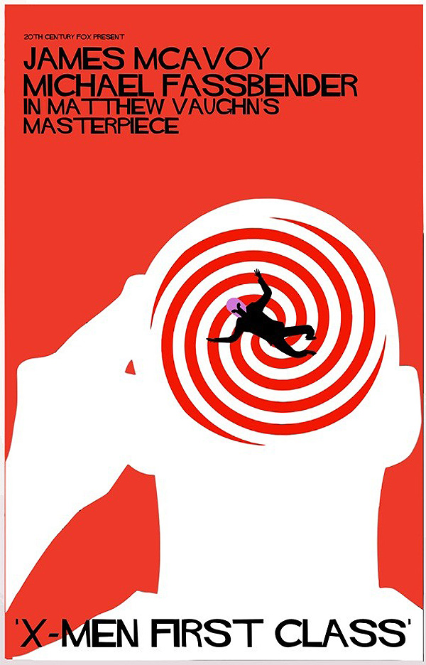 X-Men: First Class movie poster inspired by Saul Bass