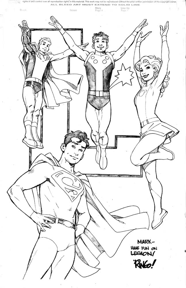 The Legion of Super-Heroes by Mike Wieringo