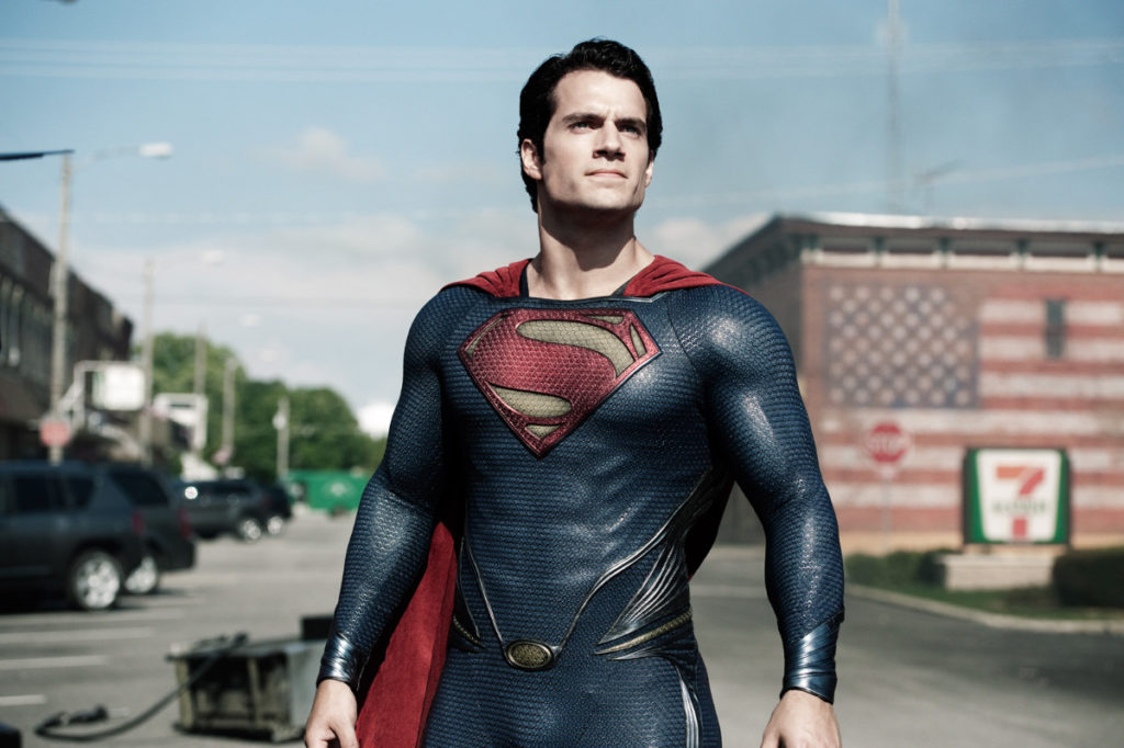 Man of Steel visual with Henry Cavill as Superman