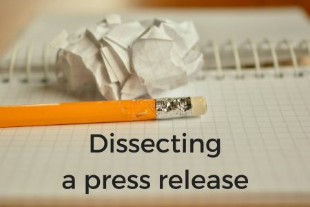 Dissecting A Comic Book Press Release