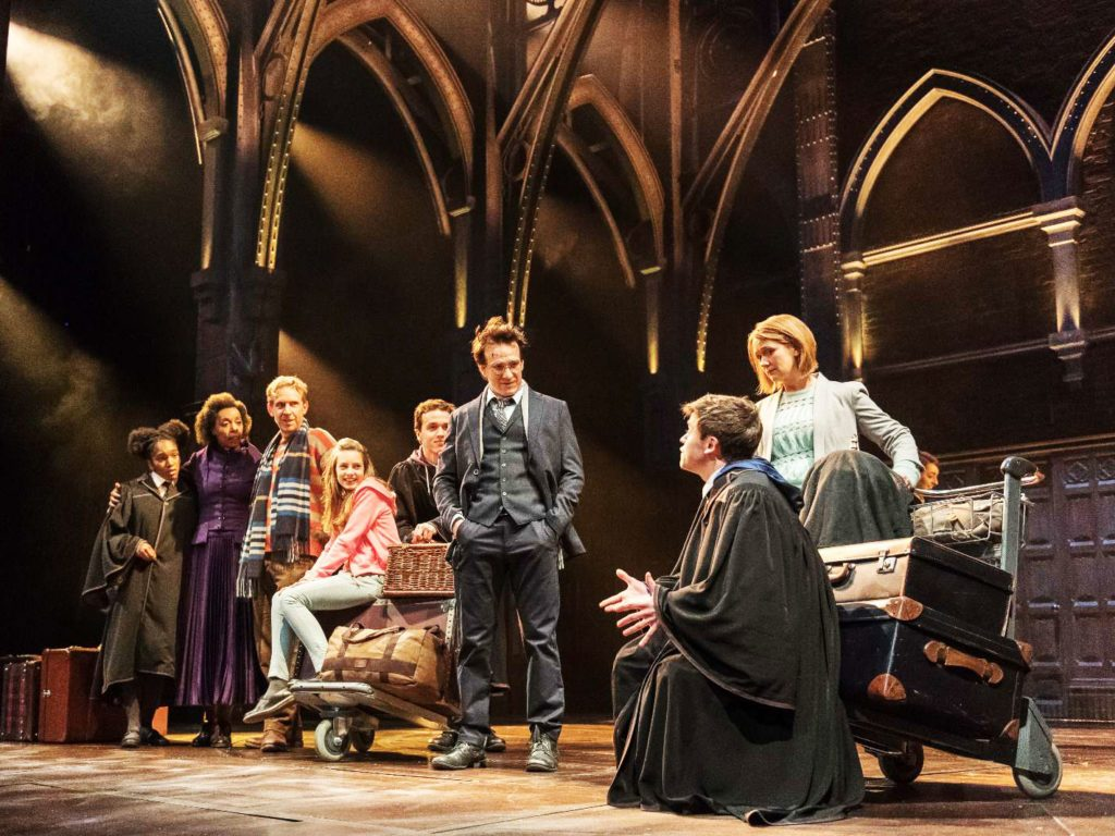 The cast of Harry Potter and the Cursed Child on stage in London.