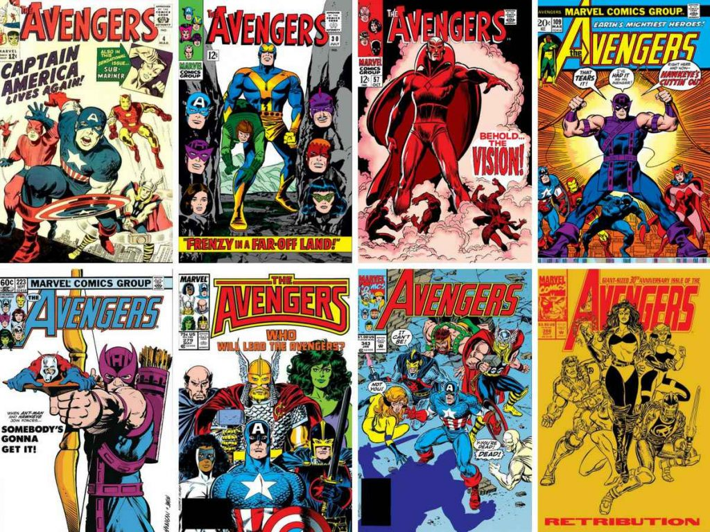 Selection of Avengers comic book covers