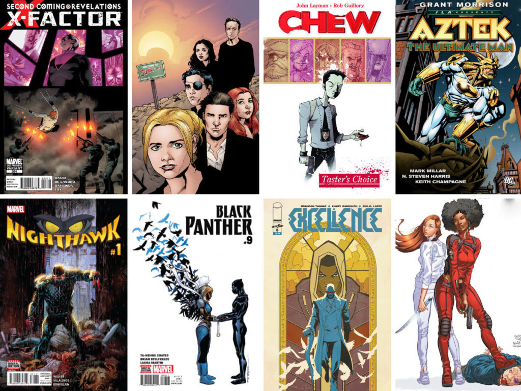 Covers of comic books by Black creators