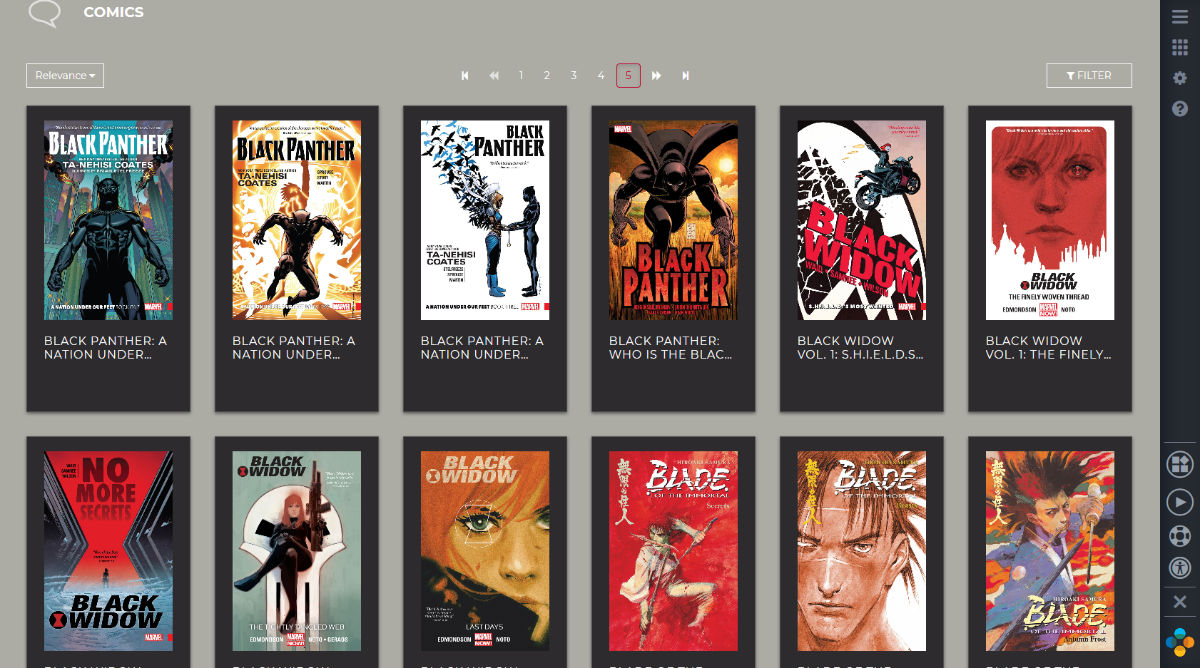 RBdigital Library Comic Book Selection