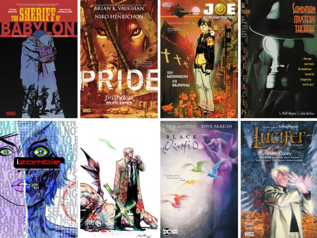 Various Vertigo comic books