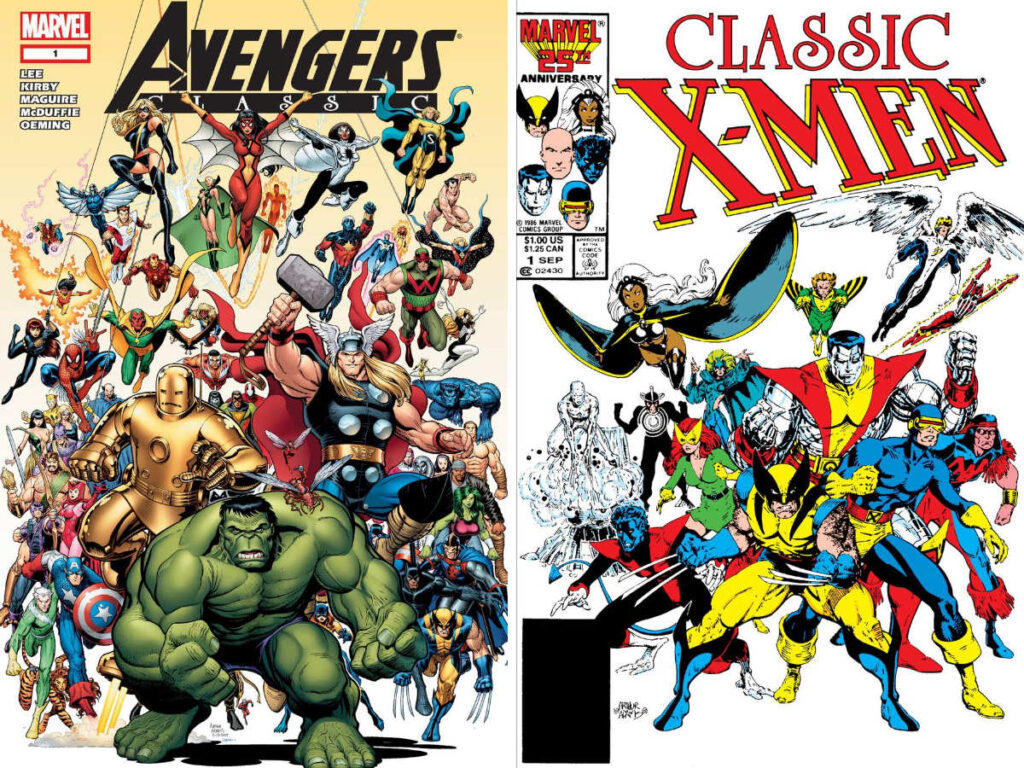 Avengers Classic #1 and Classic X-Men #1, drawn by Art Adams