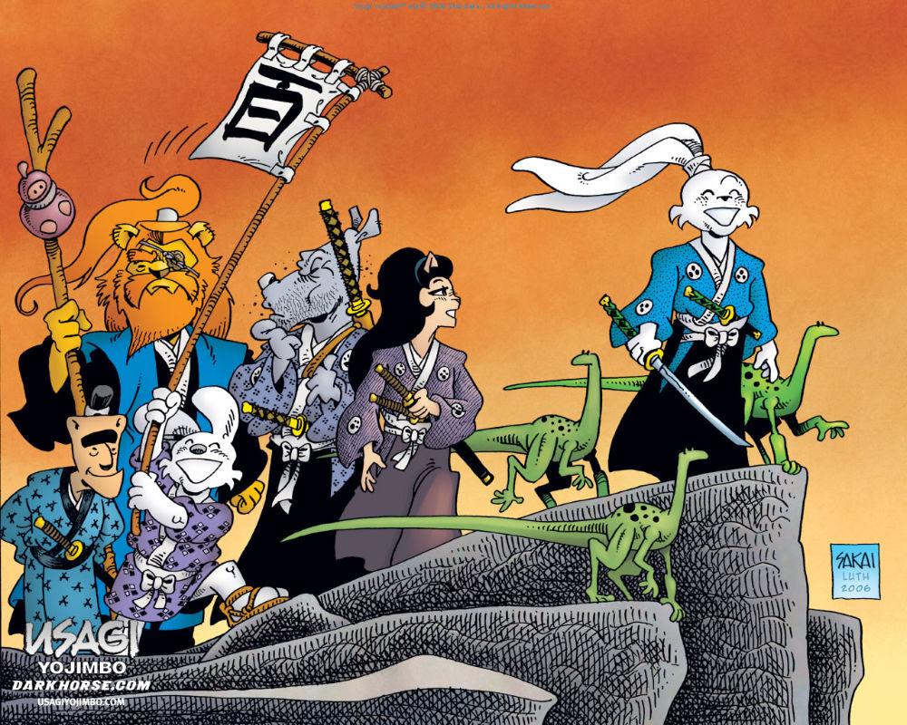 Usagi Yojimbo #100 wraparound cover by Stan Sakai