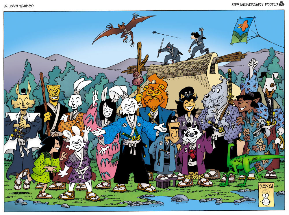 Usagi Yojimbo 25th anniversary poster by Stan Sakai