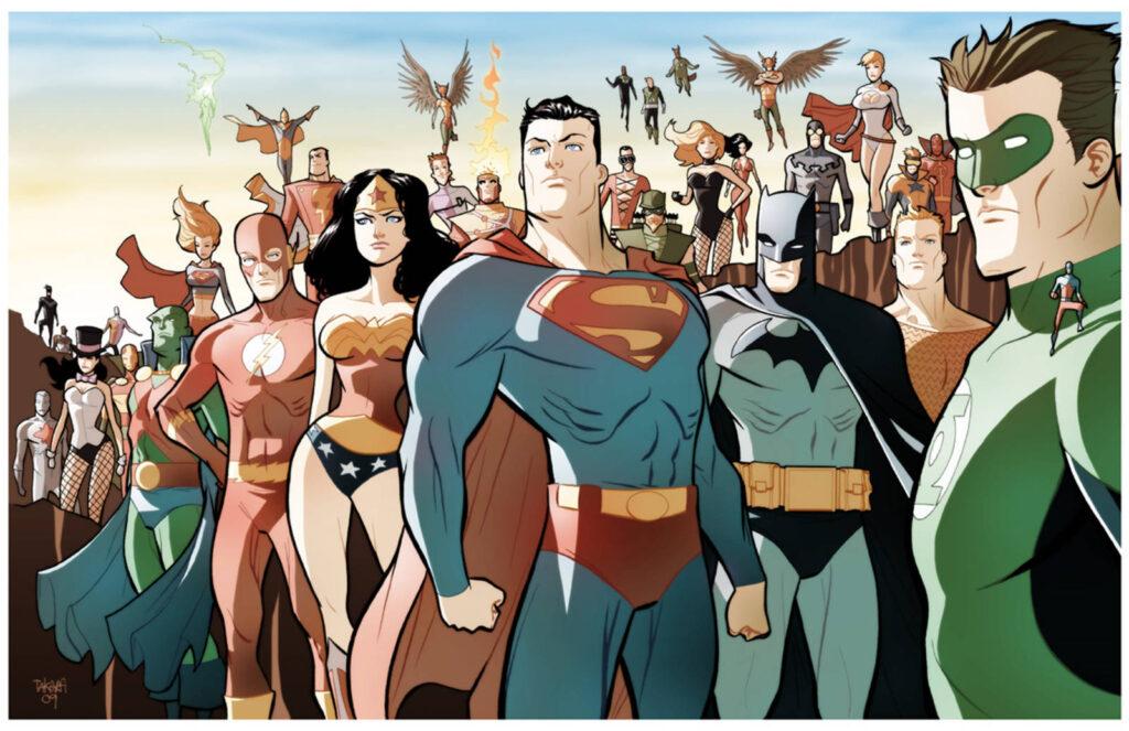 DC Comics superheroes by Marcio Takara
