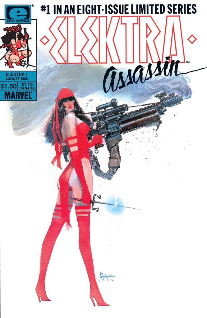Elektra: Assassin #1 cover by Bill Sienkiewicz