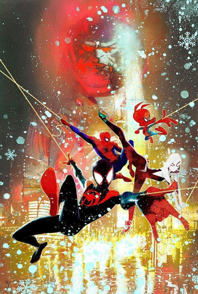 Spider-Man: Into the Spider-Verse lithograph by Bill Sienkiewicz