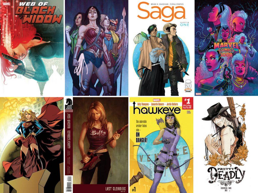 Covers of comic books by female comic book creators