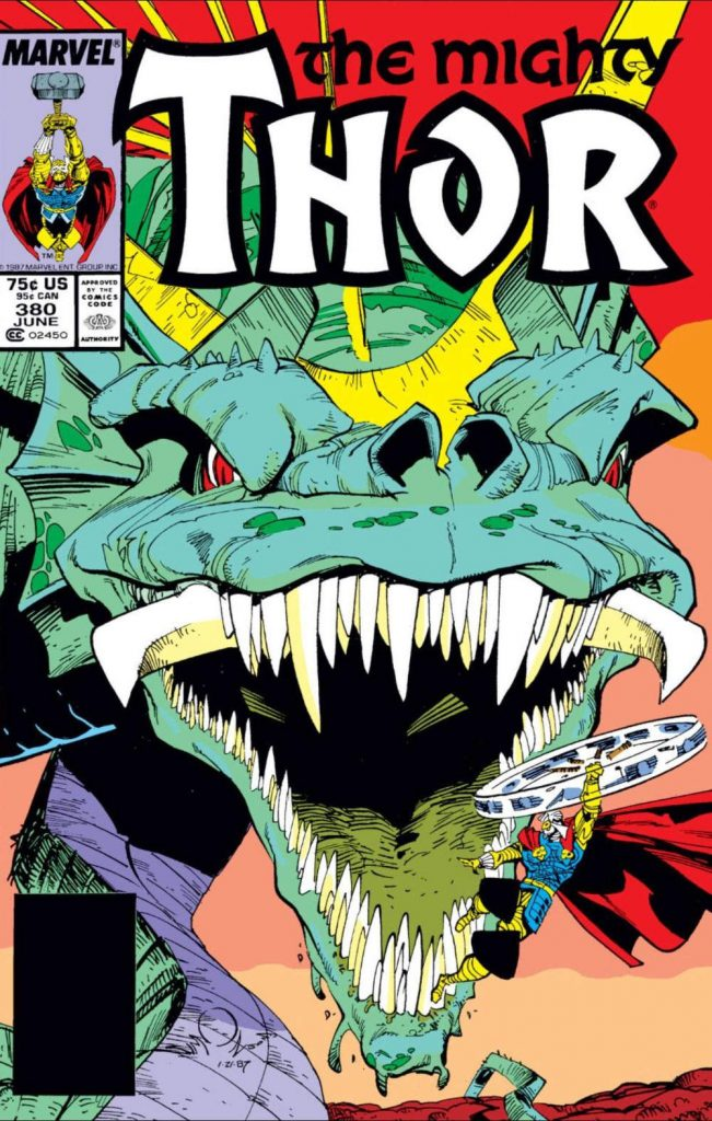 The Mighty Thor #380 cover by Walt Simonson