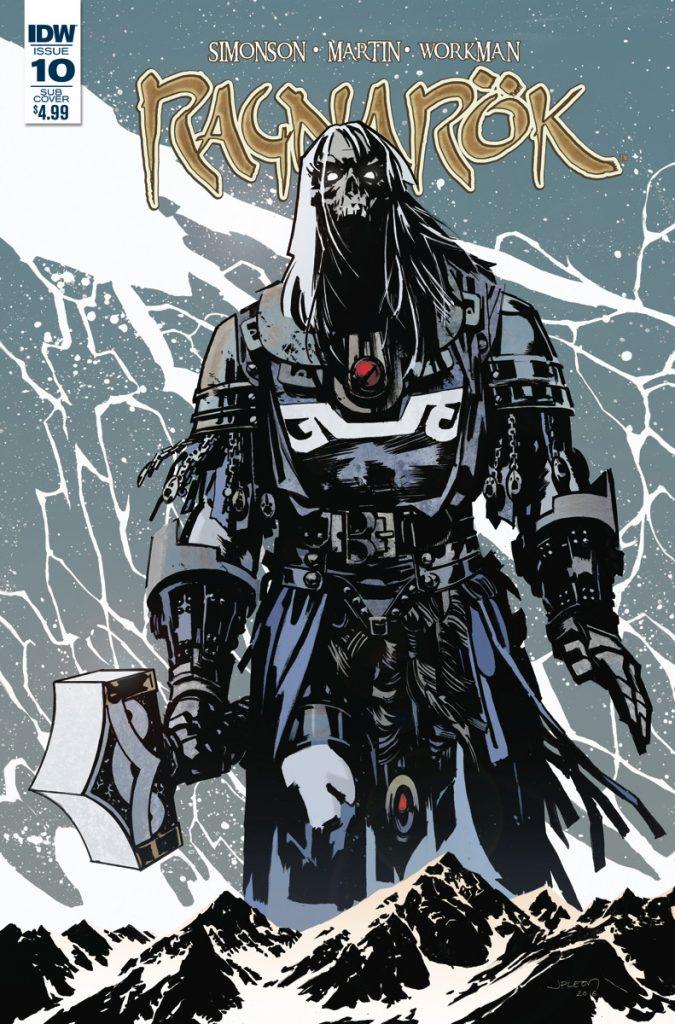 Ragnarok #10 variant cover by John Paul Leon