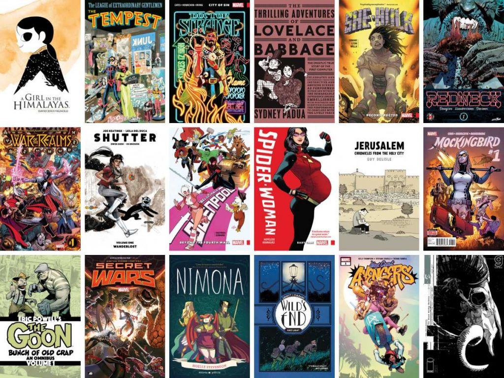 Selection of comic book covers